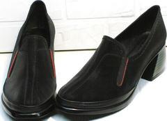 Красивые модные туфли на осень женские H&G BEM 167 10B-Black.