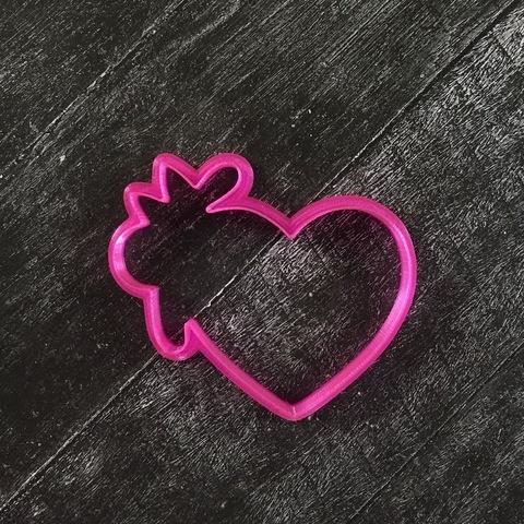 Сердце №33 с цветком