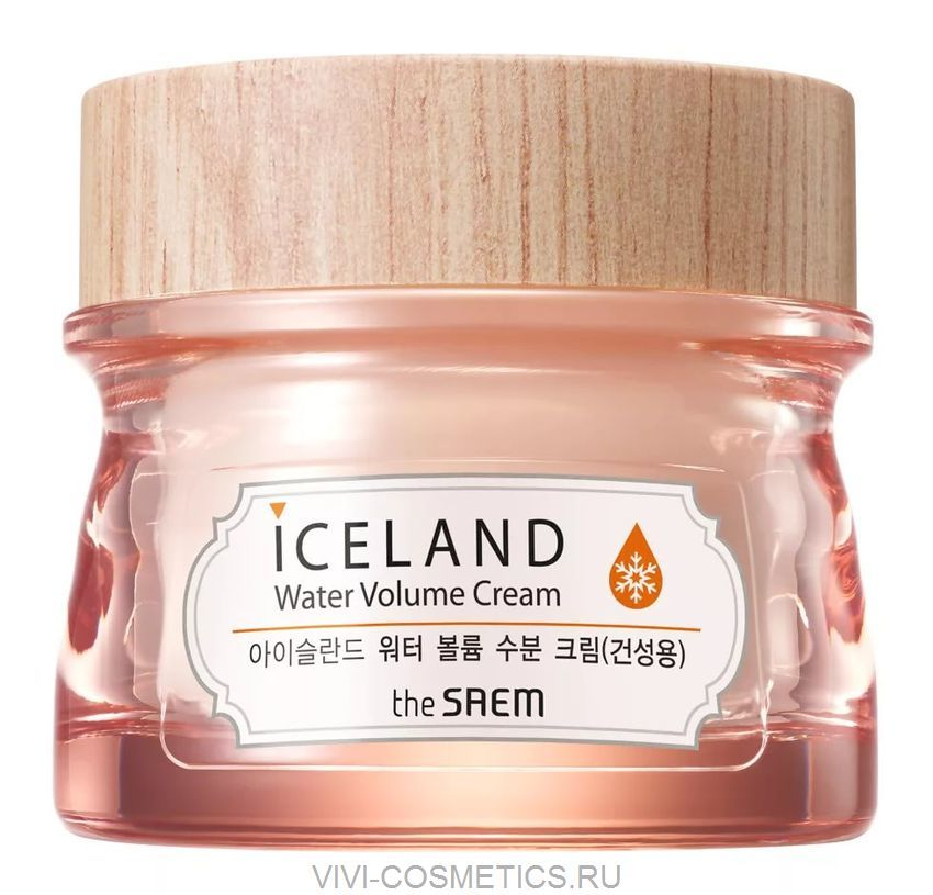 Крем увлажняющий с минеральной ледниковой водой Исландии (для сухой кожи) | THE SAEM ICELAND HYDRATING WATER VOLUME CREAM FOR DRY SKIN (80ml)
