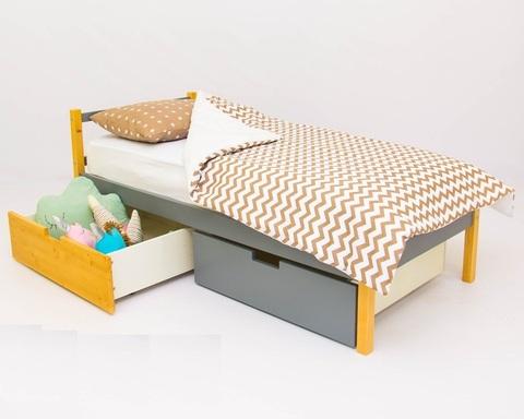 Кровать SKOGEN дерево-графит