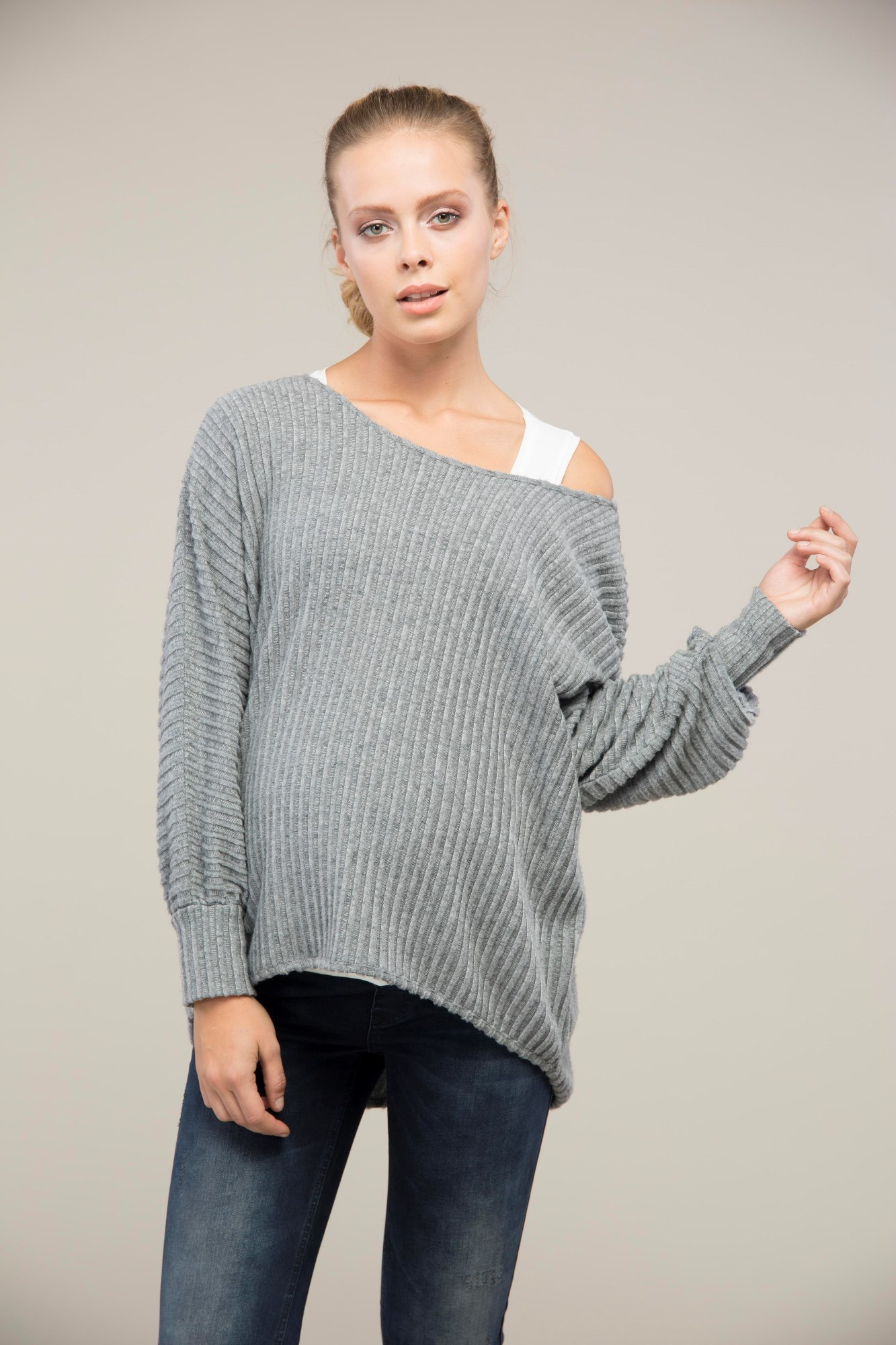 Туника для беременных 09099 темно-серый