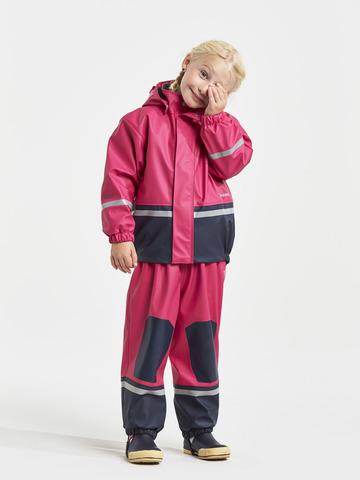 Детский прорезиненный костюм утепленный флисом BOARDMAN Didriksons фуксия