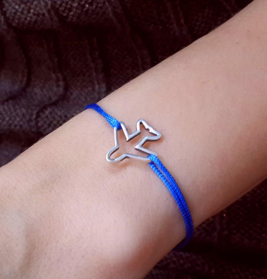 Airplane Bracelet, sterling silver