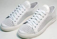 Женские спортивные туфли кеды белые низкие летние ZiKo KPP2 Wite.