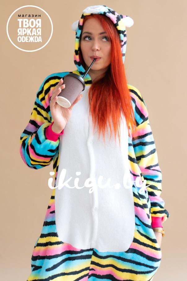 Пижамы кигуруми Радужный Кот кот_рыжая.jpg