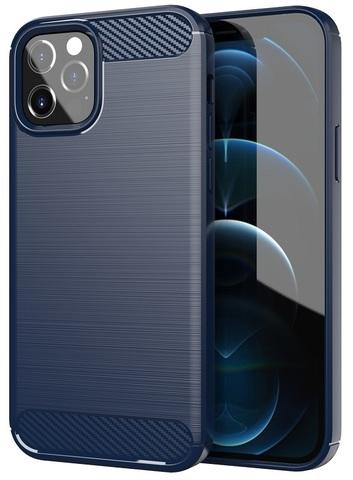 Темно-синий чехол на iPhone 12 и 12 Pro, серия Carbon от Caseport