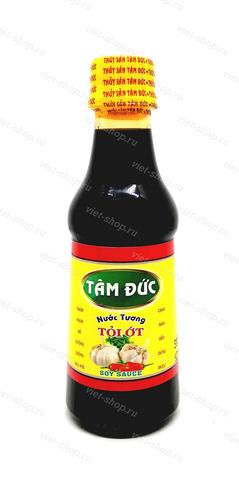 Соус соевый со вкусом чеснока и перца, Tam Duc, Вьетнам, 225 мл.