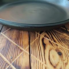 Чугунная крышка сковорода для казана 12л