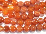 Нить бусин из сардоникса, термо обработанного, шар гладкий 8 мм
