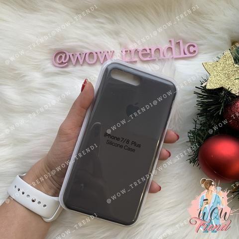 Чехол iPhone 7+/8+ Silicone Case /cocoa/ какао 1:1