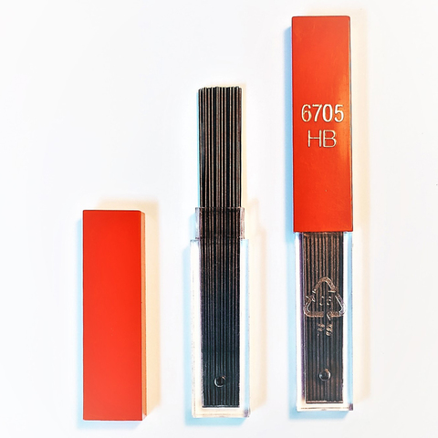 Грифели Carandache (6705.350) 0.5мм для механических карандашей твердость HB 12шт в уп