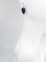 Моносерьга длинная с крупным фианитом  оптом и в розницу