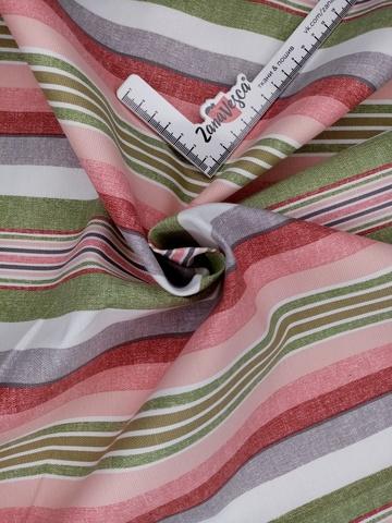 Ткань duck с тефлоновой пропиткой Цветные полосы