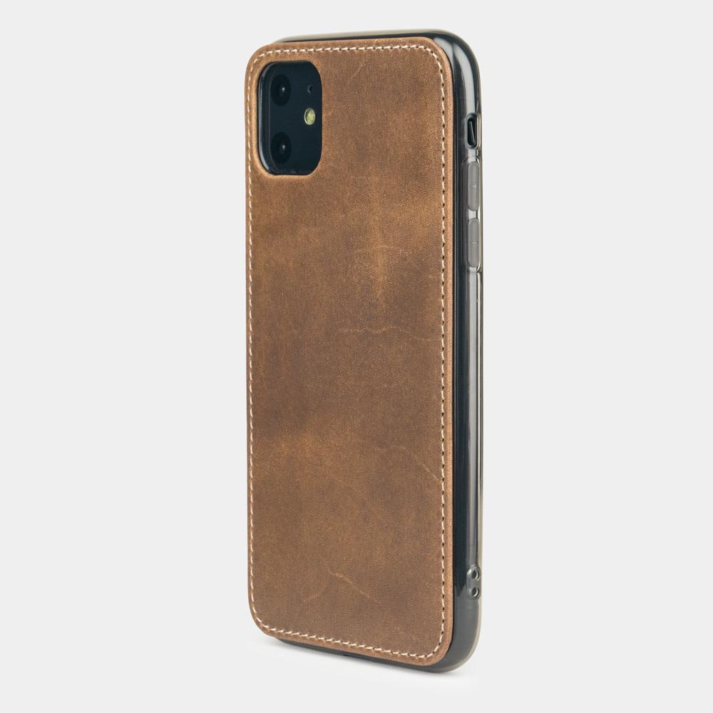 Чехол-накладка для iPhone 11 из натуральной кожи теленка, цвета винтаж
