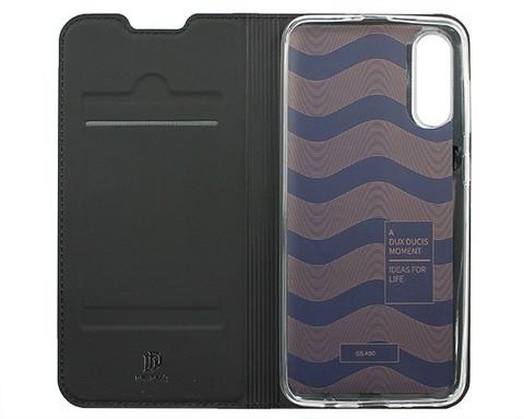 Чехол книжка для Samsung (A505F) Galaxy A50 | магнит подставка черный