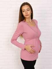 Мамаландия. Лонгслив для беременных и кормящих на запах, пудровый вид 2