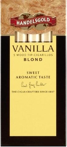 Сигариллы Handelsgold Wood Tip-Cigarillos Vanilla Blond 5 шт