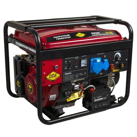 Генератор сварочный DDE GW200 (ток 50-200 А 1ф 5,0/5,5 кВт 98 кг дв-ль 14 л.с. элстарт) (917-484), шт