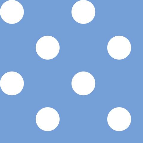 Креп сатин голубой в белый горох 1 см