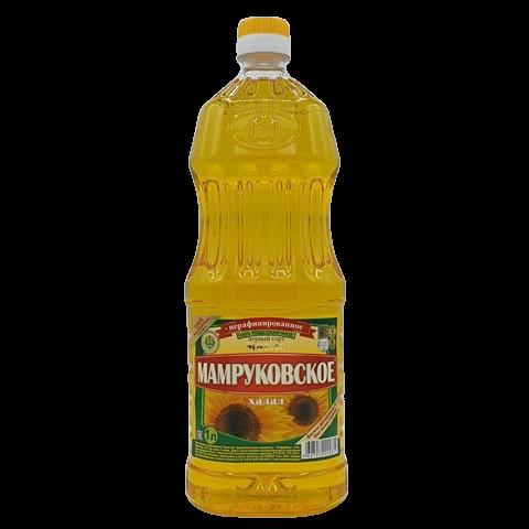 Масло подсолнечное нерафинированное МАМРУКОВСКОЕ, 1 л