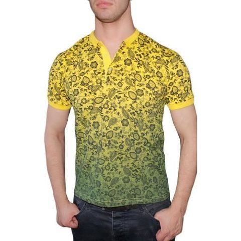 Мужская футболка ETRO желтая с принтом