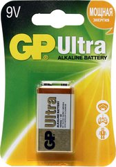 Батарейки GP 1604AU-U1 Ultra alkaline 6LF22, крона, 9V, блистер