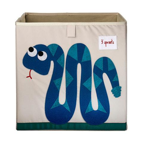 Коробка для хранения 3 Sprouts Змейка (синий)