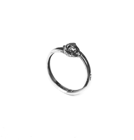 Ferret Totem ring, sterling silver