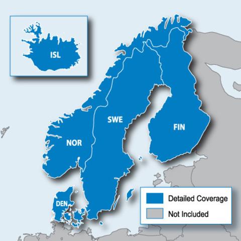 Карта дорог Garmin City Navigator Europe NT – Nordics