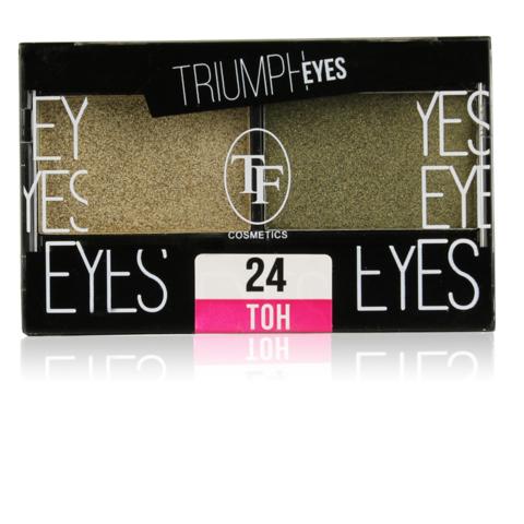 TF Тени двухцветные компактные  тон 24 Золотая маслина и Зеленый тростник CTE33 TRIUMPH EYES