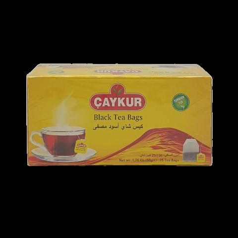 Турецкий чёрный чай пакетированный 25 пакет Rize Turist CAYKUR, 50 гр
