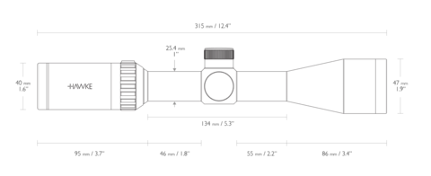 Оптический прицел Hawke Vantage IR 3-9x40 (.22 Sub, 9x) SUBSONIC