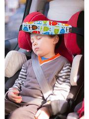 Фиксатор головы ребенка для автокресла Клювонос Совы на голубом