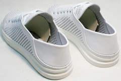 Кожаные спортивные туфли кеды на лето женские ZiKo KPP2 Wite.