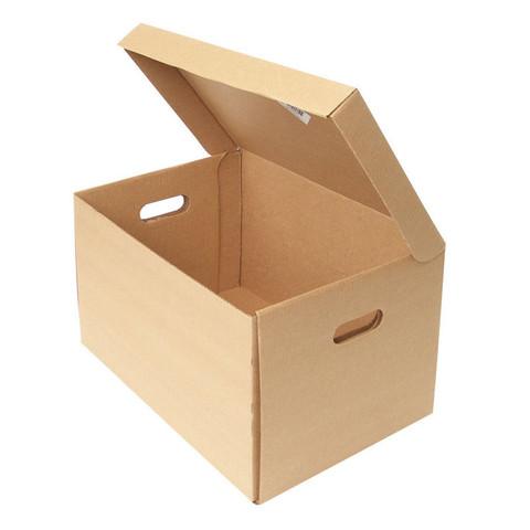 Короб архивный Т23 гофрокартон бежевый 480х325х295 мм (5 штук в упаковке)
