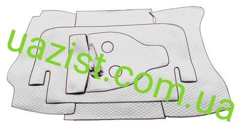 Автолин покрытие пола (шумоизоляция)  кабины УАЗ 469, Хантер  комплект из 5- ти частей (серый)