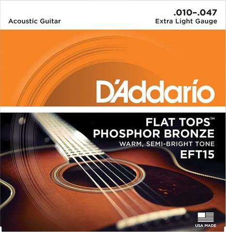 D'ADDARIO EFT15 SET ACOUS FLAT TOP PB X-LITE Струны для акустической гитары