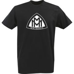 Футболка с однотонным принтом Майбах (Maybach) черная 001