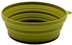 Тарелка Tramp силиконовая с пласт. дном 15*15*8,5, оливковый