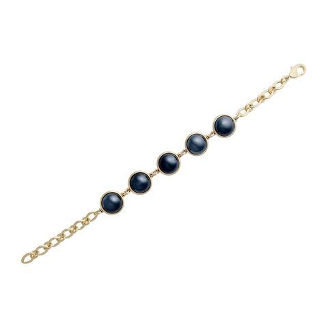 Классический браслет Pearl Black Agate C1362.4 BW/G