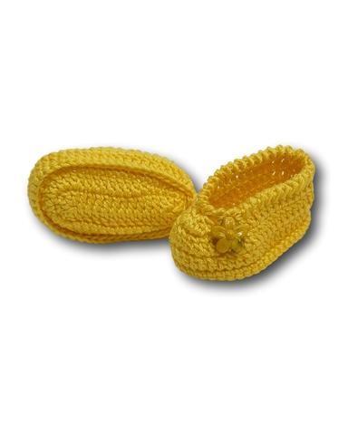 Вязаные туфли - Желтый. Одежда для кукол, пупсов и мягких игрушек.