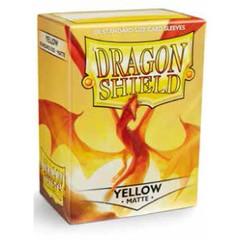 Dragon Shield - Желтые матовые протекторы 100 штук