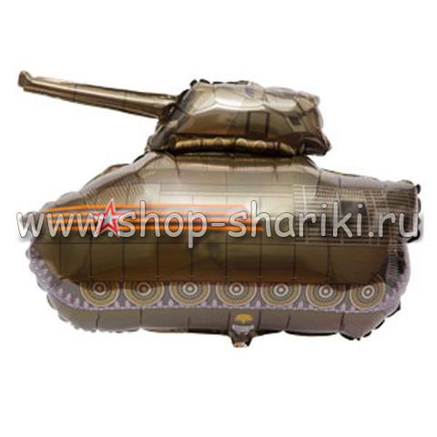 Шар танк коричневый