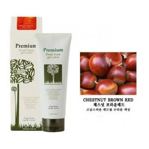 ХК Гель-маникюр для волос (красн.-коричн) Haken Premium Pearll Pure Gel Color-Chestnut Brown Red 220