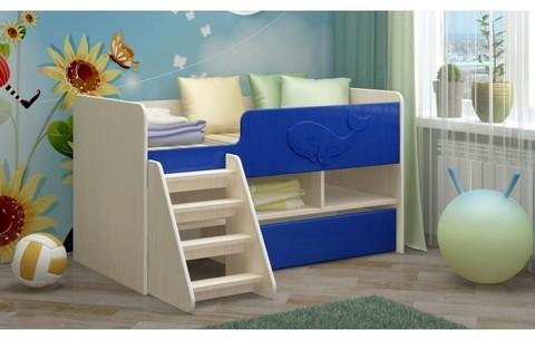 Детская кровать Юниор-3 МДФ, тёмно-синий, 70х140