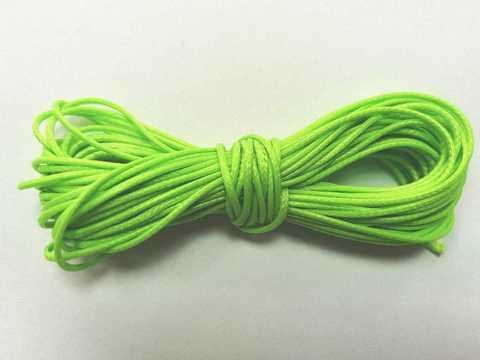 Шнур вощеный для браслетов и рукоделия 1мм*9м. Цвет ярко-зеленый (3096)