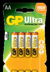 Батарейки GP 15AU-U4 Ultra alkaline LR6, АА, 4шт блистер 4/40/320