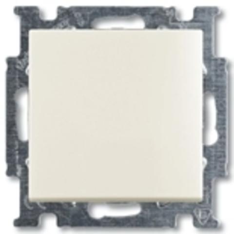 Выключатель одноклавишный. Цвет слоновая кость. ABB Basic 55. 1012-0-2146