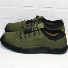 Мужские туфли кеды низкие Luciano Bellini C2801 Nb Khaki.