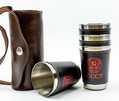 Подарочный набор стопок в чехле СССР, фото 8
